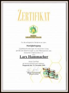 Honiglehrgang Zertifikat 002